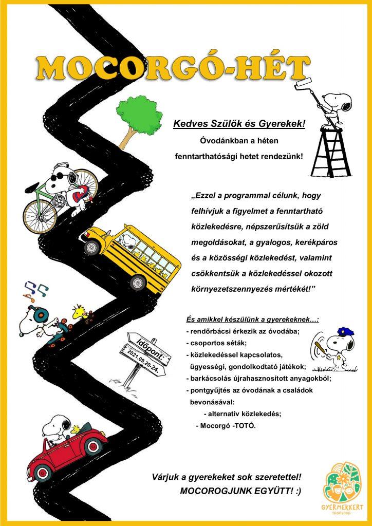 Mocorgó hét a Gyermekkert Tagóvodában